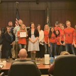 BGHS Stripes Mentors at City Hall