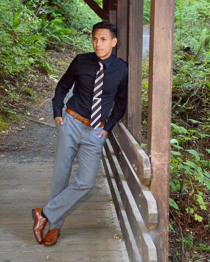 Featured graduating senior Kyle Ganoung