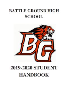 2019-20 Student Handbook Cover