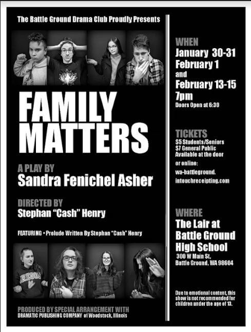 BGHS Drama - Family Matters poster