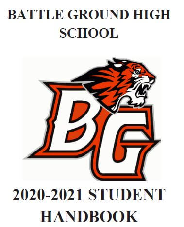 Cover of the 2020-21 student handbook