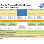 Remote Schedule for High School Students