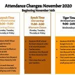 BGHS Attendance Update