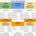 High school hybrid schedules