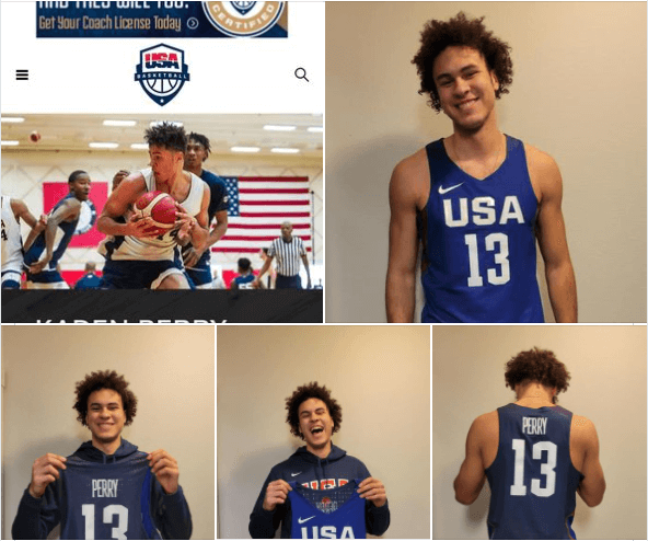 Kaden Perry basketball collage